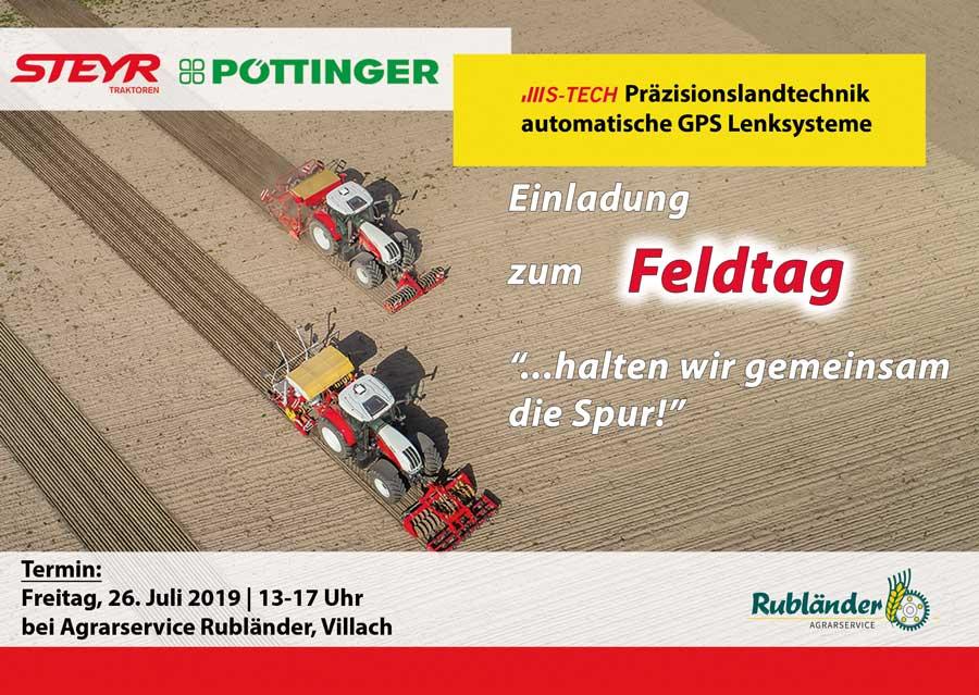 Ganz und zu Extrem STEYR S-TECH Feldtag für GPS Lenksystem - Landtechnik ZANKL #KB_38